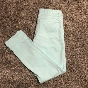 JCREW Mint Green Skinny Jeans